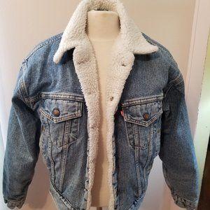 Vintage Levi Sherpa Lined Jacket Small